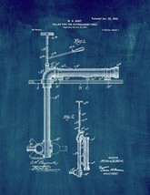 Cellar-pipe for Extinguishing Fires Patent Print - Midnight Blue - $7.95+