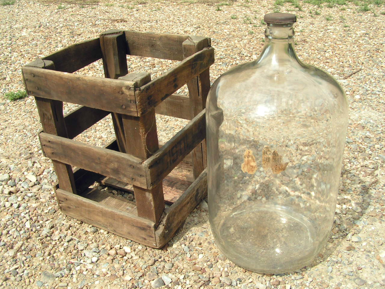 Antique distillata water jug