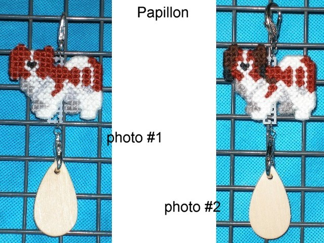 Papillon dog crate tag or hang it anywhere, handmade multiple colors available