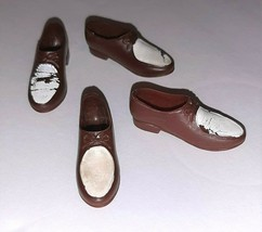 Vintage Ken Doll Brown & White Oxford Shoes #782 Casuals 2 Pair Needs TL... - $5.94