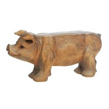Small Pig Animal Bench Indoor Outdoor Yard Garden Home Decor Country Bench - $99.00