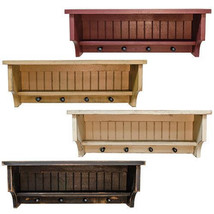 Country Rustic Distressed Bead board Shelf with pegs - $37.99