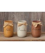 Fall mason jar set -Fall-Thanks-Autumn - $32.00