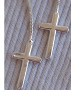Mini silver cross earrings - $20.00