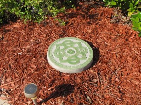 "1- 14"" Celtic Flower Garden Stepping Stone Concrete Mold - Make 100s for Pennies"