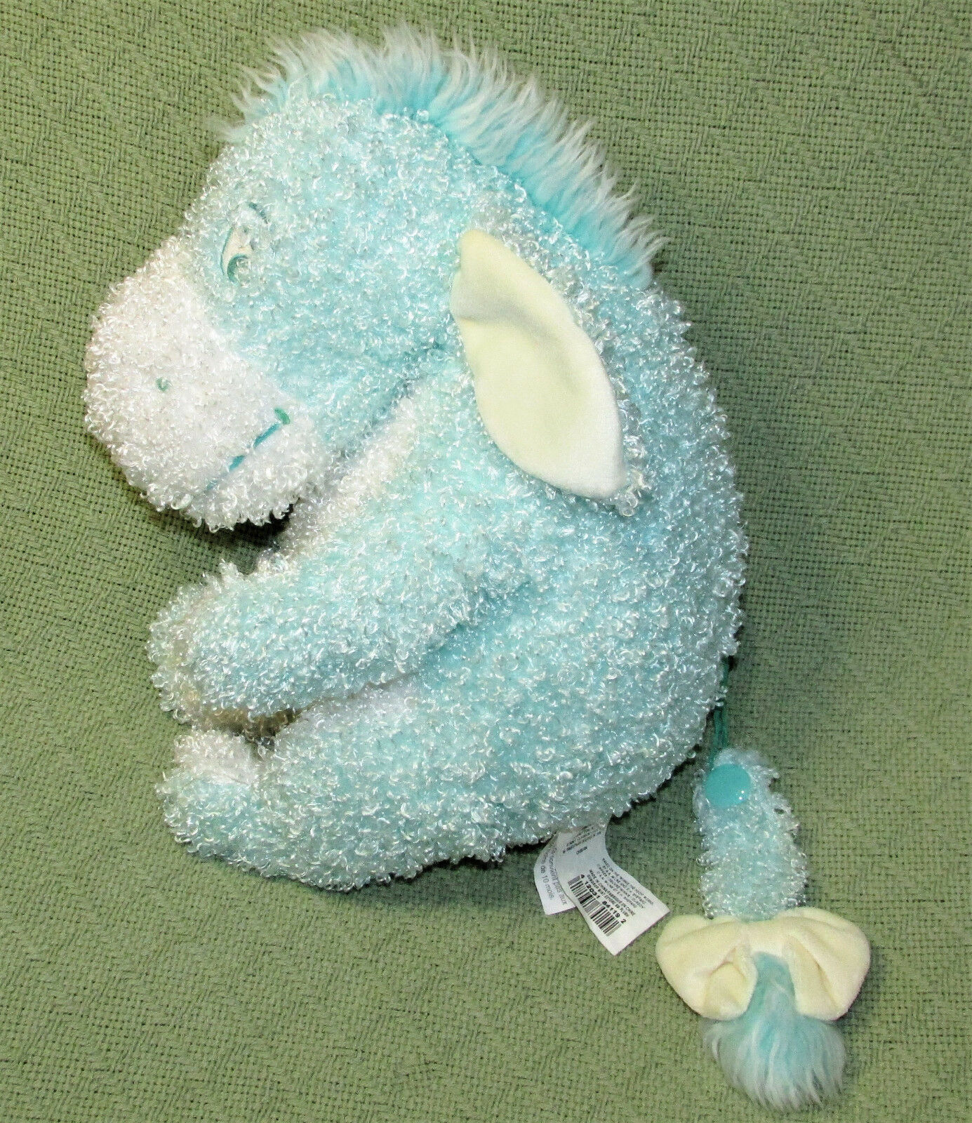 "Primary image for 12"" EEYORE GUMDROP MINT Plush DISNEY STORE Stuffed Animal Pooh Disney Curly Toy"