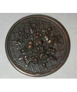 Floral Flower Pin vintage Bronze antiqued finish - $9.00