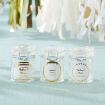 Personalized Glass Favor Jars - Gold Foil (Set of 12)  - $25.99