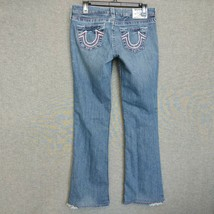 True Religion BootCut Stretch Womens Jeans Sz 28 L31 Distressed - $16.83
