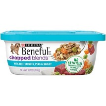 Purina Beneful Wet Dog Food, Chopped Blends With Beef - 8 10 oz. Tubs