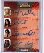 TNA WWE Quad Autograph Sarita Hamada Kharma Taylor Wilde 1/5 - $64.00