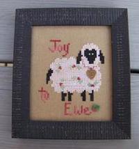 Joy To Ewe sheep cross stitch chart Katidid Designs - $6.30