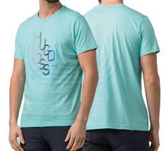 Hugo Boss Men's Graphic Swirling Logo Regular Fit T-Shirt Cotton Tee 50404413