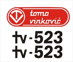 TOMO VINKOVIC 523- Tractor decal set, reproduction - $27.00