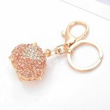 Rhinestone Keychain Cartoon Pig Pendant Key Ring Holder Bag Car Decor Wo... - $8.05