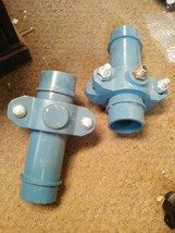 Two 3 inch  pipe with couplers