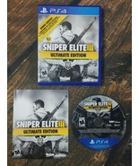 Sniper Elite III 3 Ultimate Edition PlayStation 4 PS4 TESTED Complete - $14.82