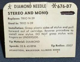 RECORD STYLUS NEEDLE for Kenwood Trio N39 Kenwood V-39 V39 JELCO ND-15D 676-D7 image 3