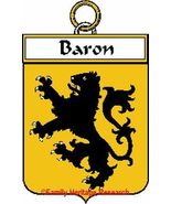 Baron French Coat of Arms Print Baron Family Crest - $25.00