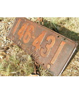 Antique Single 1925 PENNA metal License Plate Pennsylvania - $44.99