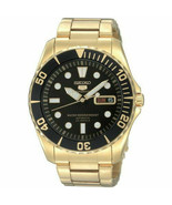 Seiko 5 Sports SNZF22J1 Japan Gold with Black Dial Men's Automatic Watch - $282.15