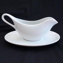 Williams Sonoma White Ceramic Gravy Boat and Separate Under Plate - $24.18