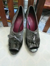 Coach gray suede and black patent leather shoes size 10B - $37.36