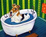 B175 16x20  fox terrier dog 8x10 signed art print bathroom animals impressionism thumb155 crop