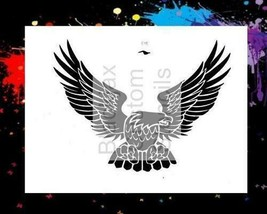 "NEW! 15""x12"" Stencil USA Eagle 01 Airbrush Stencil,Template - $14.01"