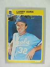 Larry Gura Kansas City Royals 1985 Fleer Baseball Card Number 202 - $0.98