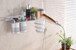 MULTI-USE Alumimum Holder Storage Bathroom Toothbrush Toothpaste Wall Or... - $17.19