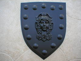 "Medieval Shield Mold 24x30x3"" Makes Concrete or Plaster Hanging Wall Plaques  image 2"