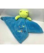 """Baby Gear Frog Blue & Green Security Blanket Lovey Cute And Hoppy 15""""x15"""" - $12.42"""