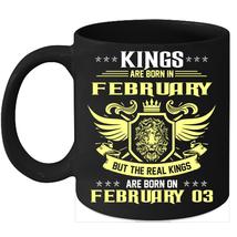 Birthday Mug Kings Are Born on 3rd of February 11oz Coffee Mug Kings Bday gift - $15.95