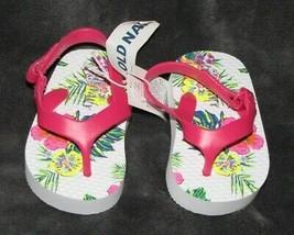 OLD NAVY BABY GIRL TROPICAL HAWAIIAN SANDALS HOT PINK SWIM SUMMER CLOTHE... - $9.89
