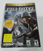 Call of Duty 2 (PC CD-ROM, 2005) Game 6 Disc Set - Complete CIB Game of ... - $8.33