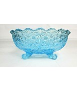 """Vintage LE Smith Blue Large 10""""L  Glass Daisy And Button  Fruit/Salad/Ca... - $79.20"""