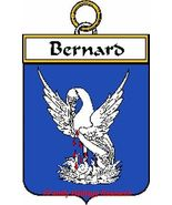 BERNARD French Coat of Arms Print BERNARD Famil... - $25.00