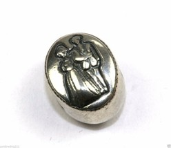 AUTHENTIC CGC MARRIAGE BRIDE & GROOM COUPLE OVAL BEAD CHARM 925 STERLING... - $19.82