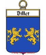 BILLET French Coat of Arms Print BILLET Family ... - $25.00