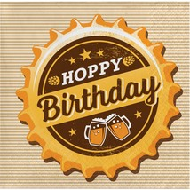 Cheers & Beers Hoppy Birthday Beverage Napkin, Case of 192 - £44.14 GBP