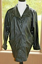 Elk Leather Size Medium Black Vintage Soft & Supple Snap Button Jacket (BJ) - $218.49