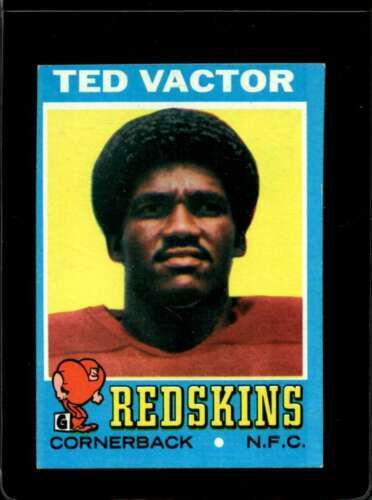 1971 TOPPS #159 TED VACTOR EX RC ROOKIE REDSKINS  *X2682