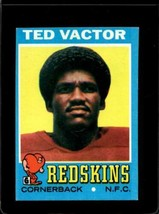 1971 TOPPS #159 TED VACTOR EX RC ROOKIE REDSKINS  *X2682 - $1.73