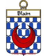 BLAIN French Coat of Arms Print BLAIN Family Crest - $25.00