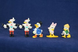 5 Vtg Walt Disney Kellogg Promo Duck Tales Figures Webby Scrooge Gizmoduck Louie - $15.97