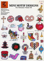CROSS STITCH MINI MOTIF DESIGNS FOR CHRISTMAS VOL. III - $2.50