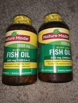 2 Nature Made Burpless Fish Oil 1000 mg Softgels 300 mg Omega-3 exp 09/21 - $34.00