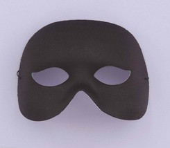 Black COCKTAIL1/2 Mask Eye Mask Face Mask Halloween Costume Masquerade Accessory - $5.79
