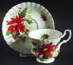 Royal Albert Christmas YuleTide Tea Cup and Saucer Etsy - $45.00